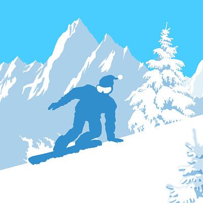 Lance laspina h46 lrg masksublimate pf snowboarder
