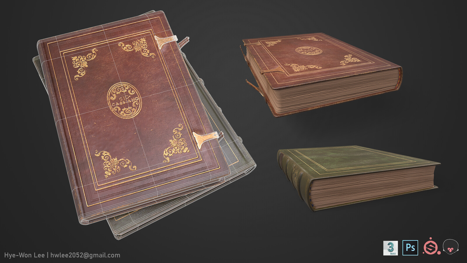 wireframe and separate books