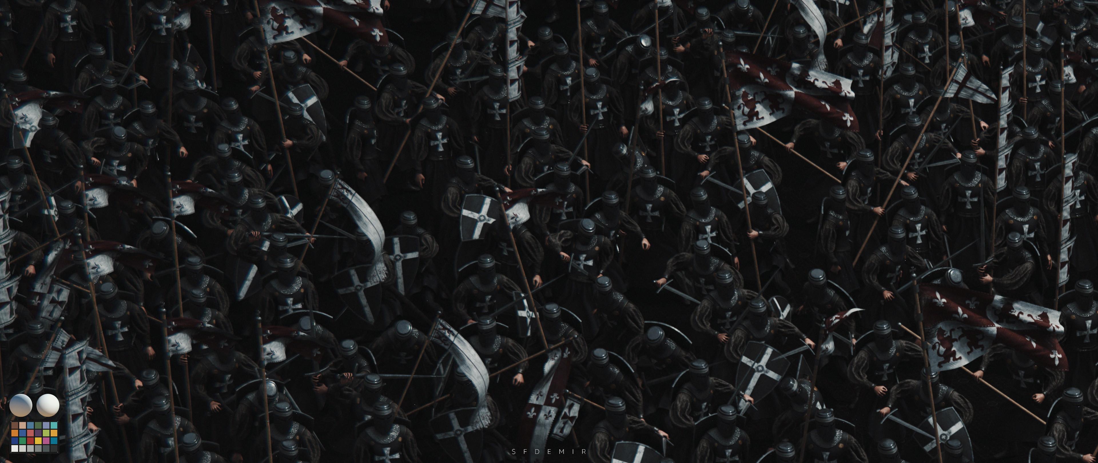 Preparing For War Scene - Shot 02 - With Machbet (Lightning Setup)