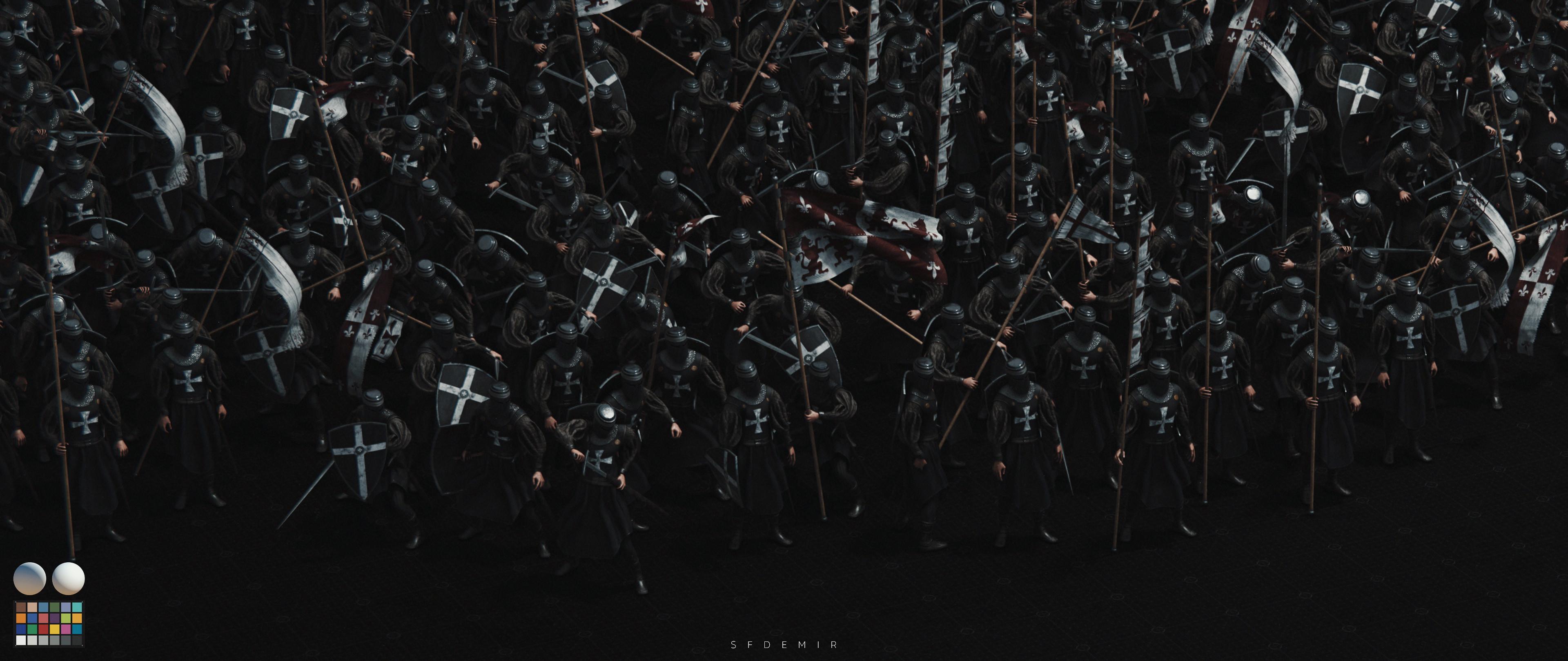Preparing For War Scene - Shot 05 - With Machbet (Lightning Setup)