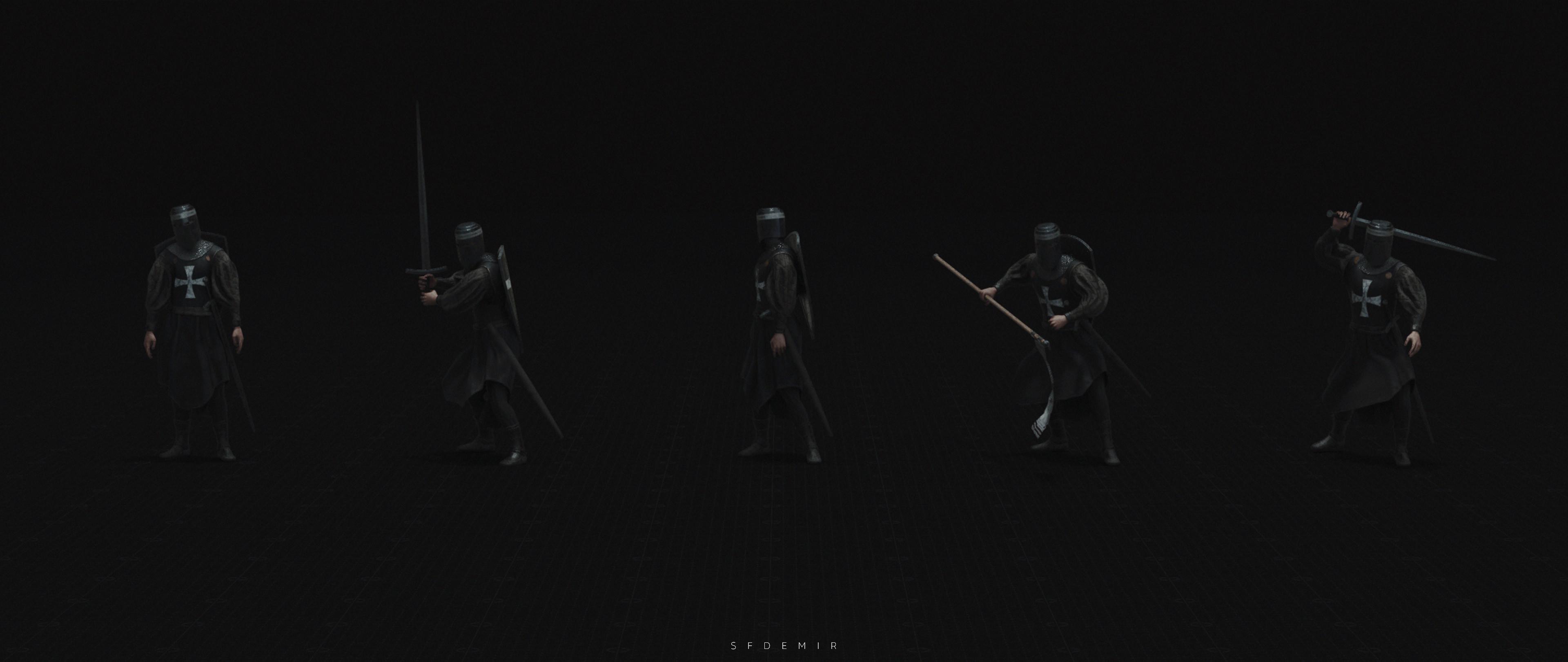 Templar Pose Pack 01