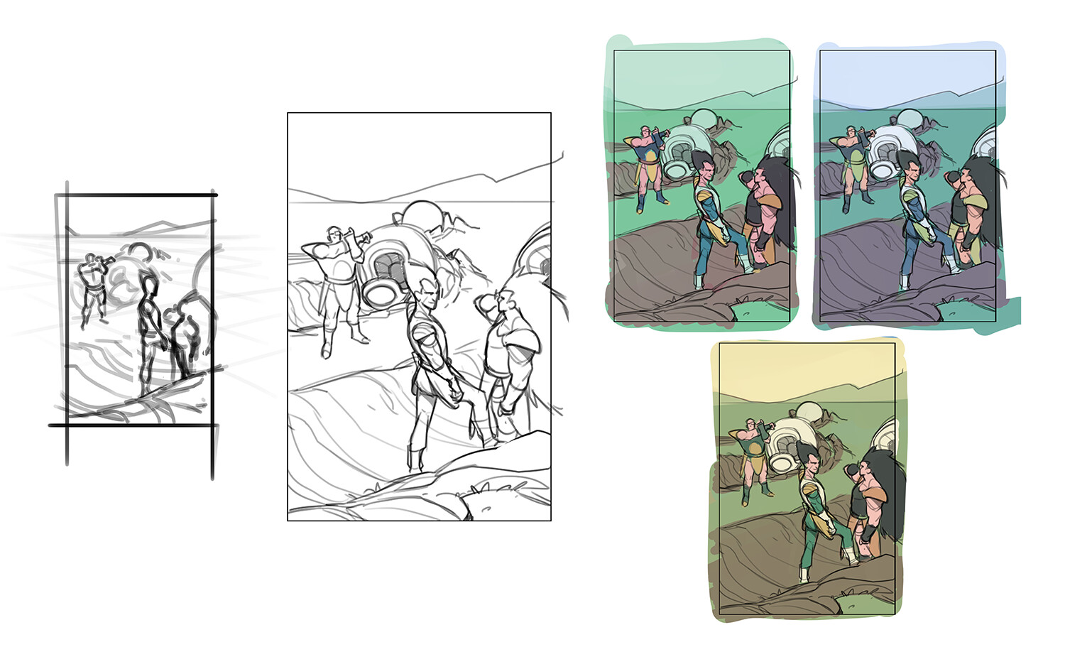 thumb - rough - color comps