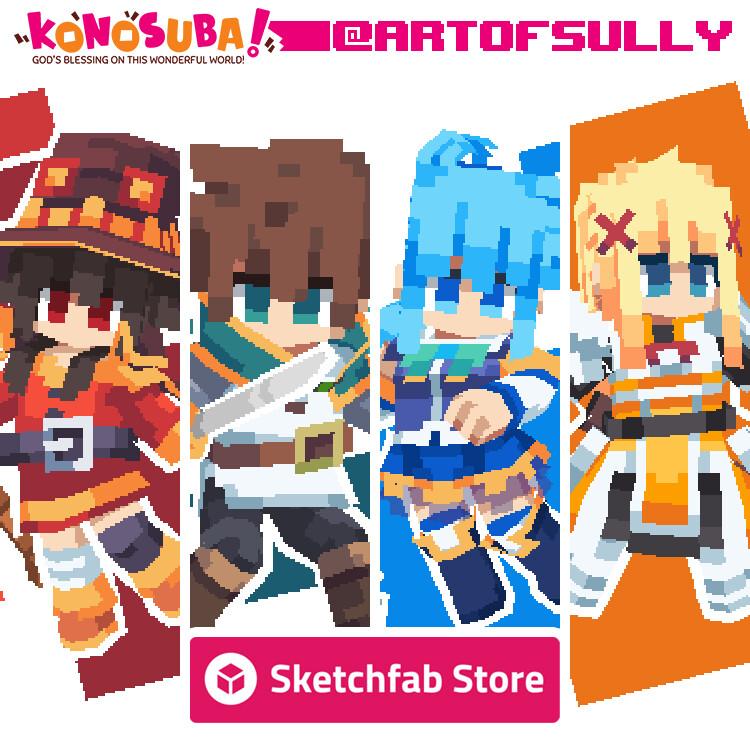 Sketchfab Seller Announcement (KonoSuba)
