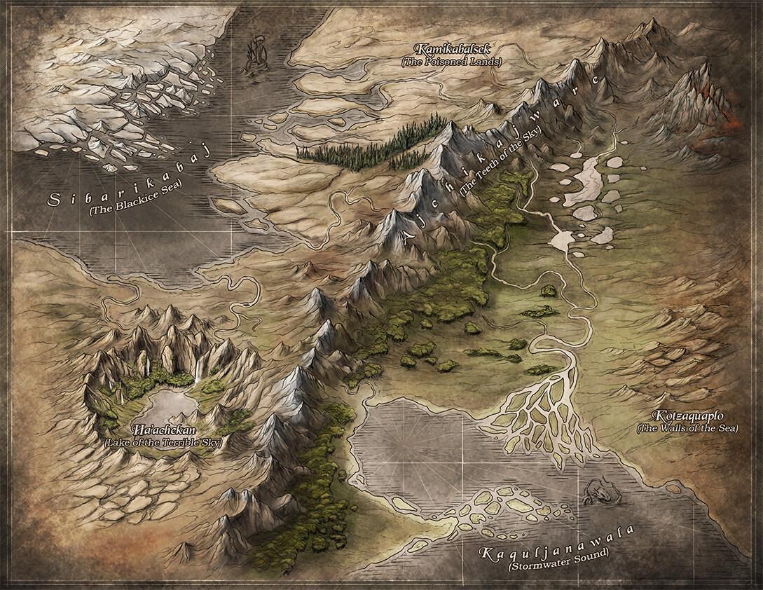 Regional Fantasy map