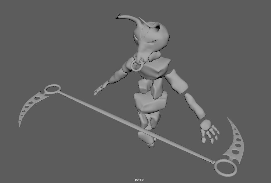Minoithe 3d model View: 45 with scythe