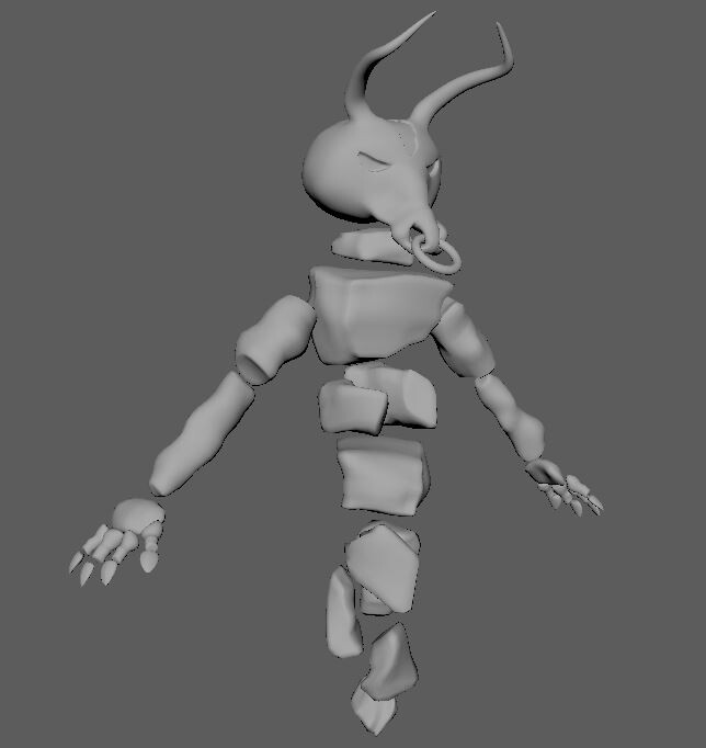Minoithe 3d model View: 45 right