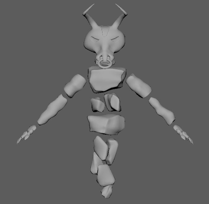 Minoithe 3d model View: Front