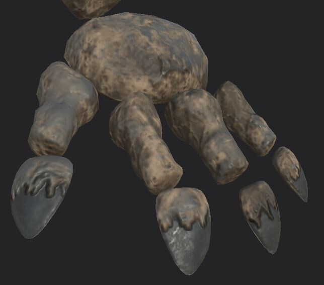 Minoithe Textures: close up of the hand rocks