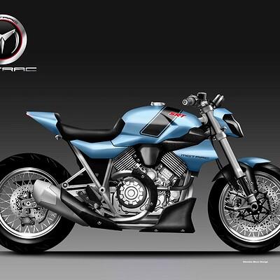 Oberdan bezzi motrac srt 900 sport roadster concept