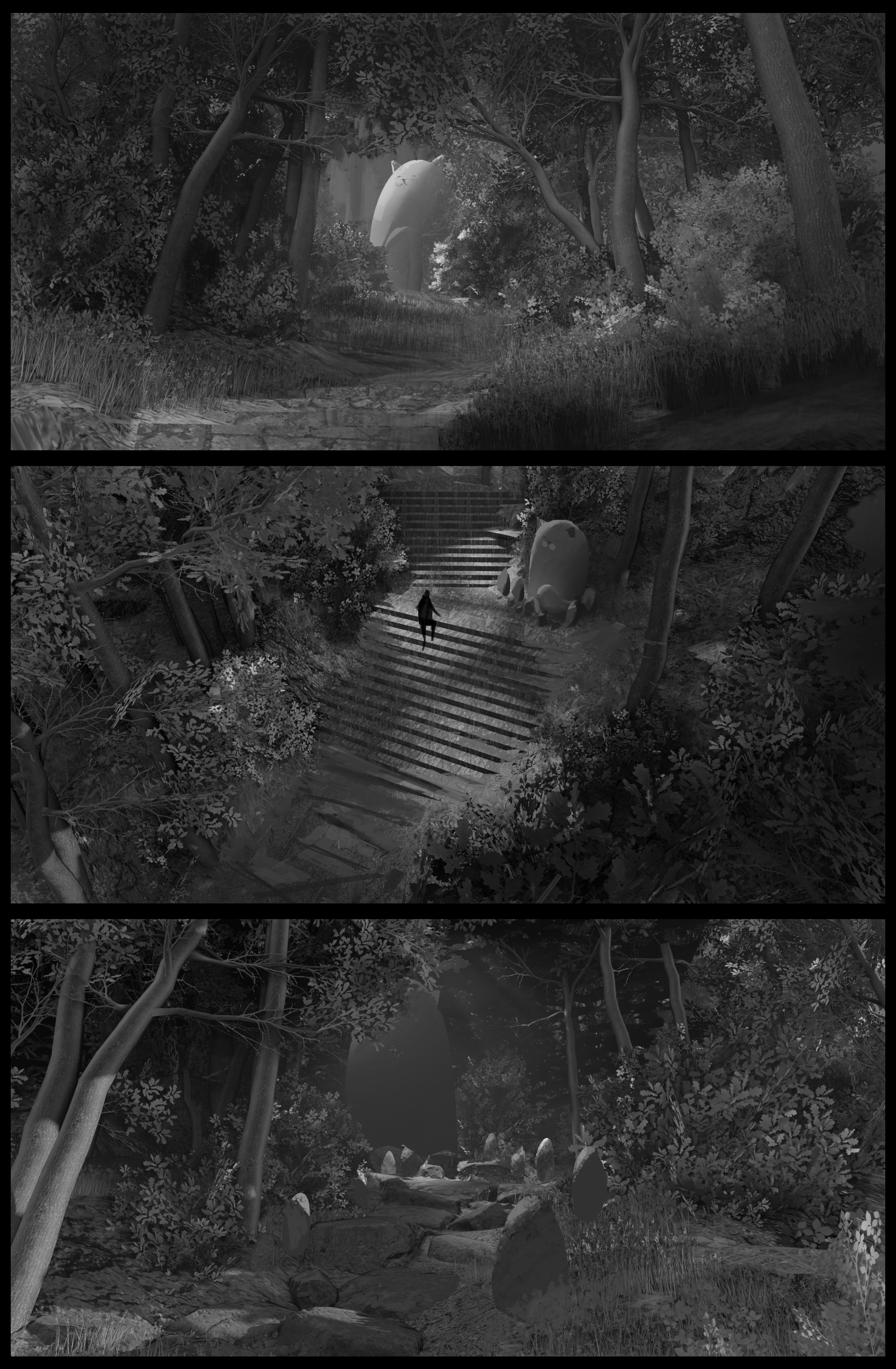 Thumbnails. Ended up using a mixture of the top and bottom ones.