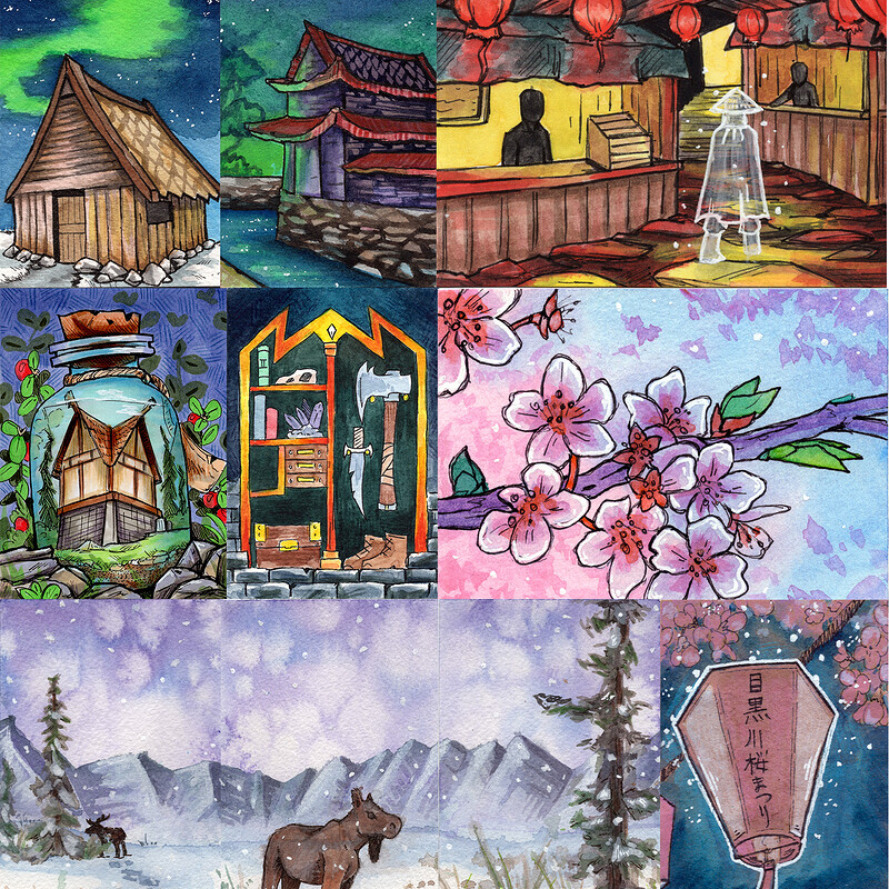 Environment Sketch Cards