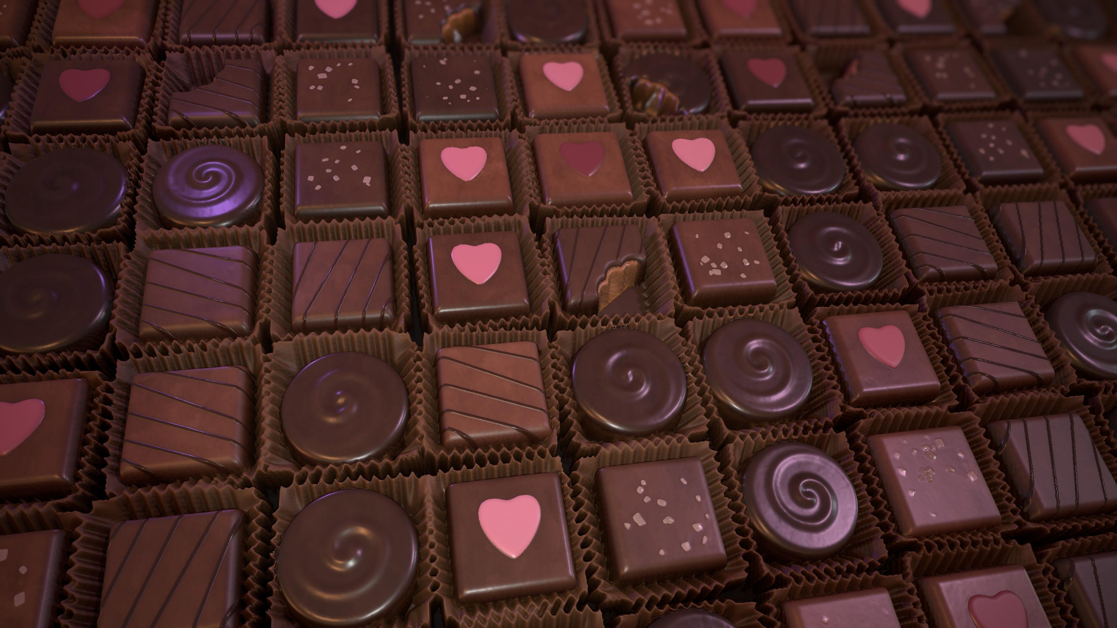 Planar Render of Chocolate material