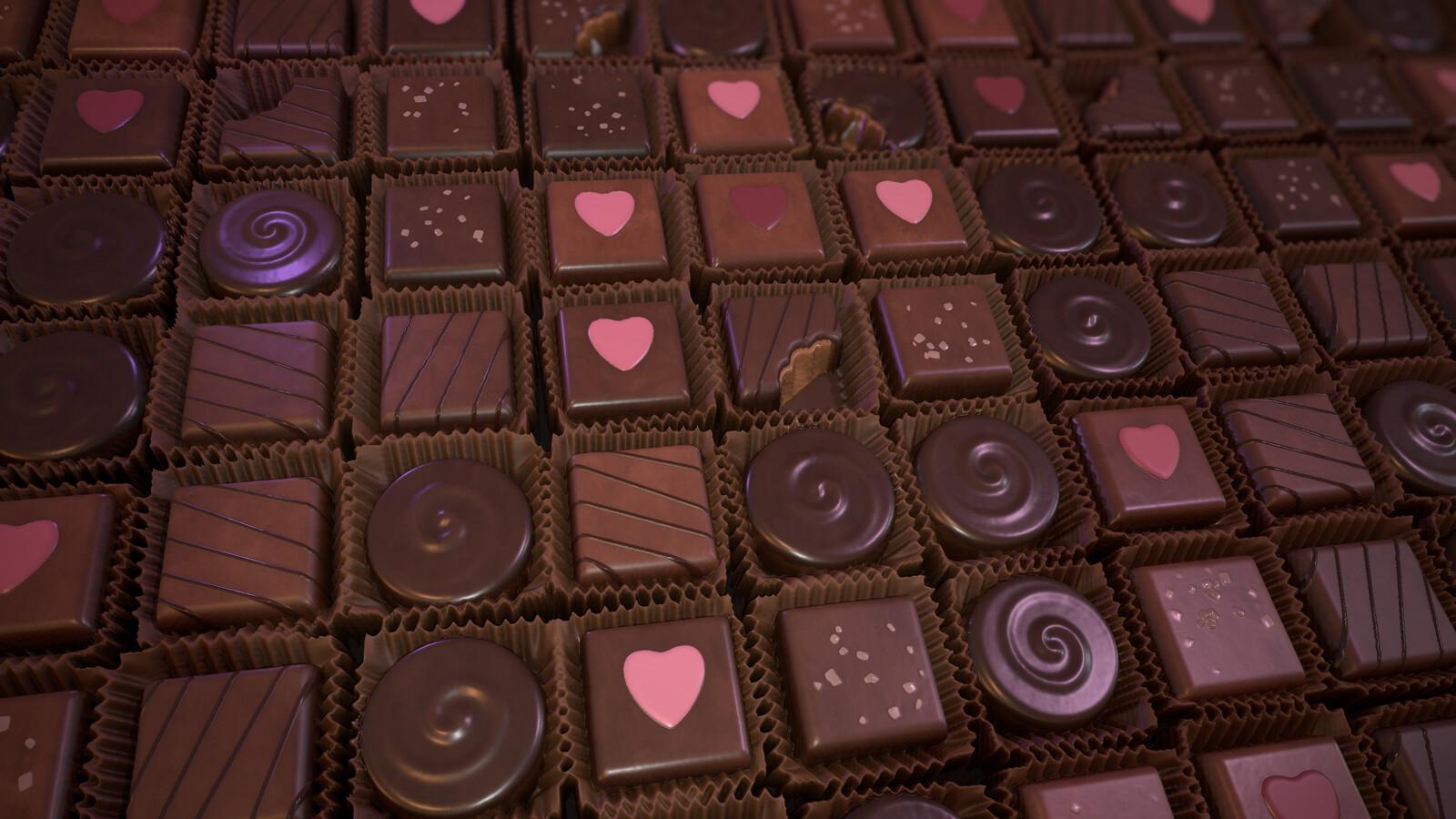 Chocolate Assortment Material - Substance Designer