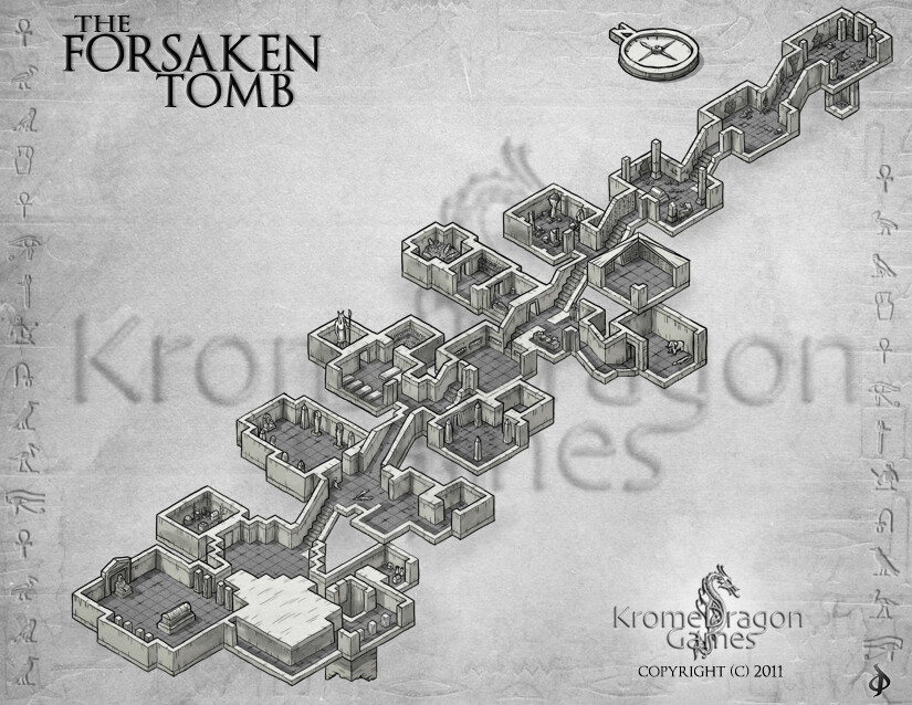 One of the dungeon maps I created for a game.