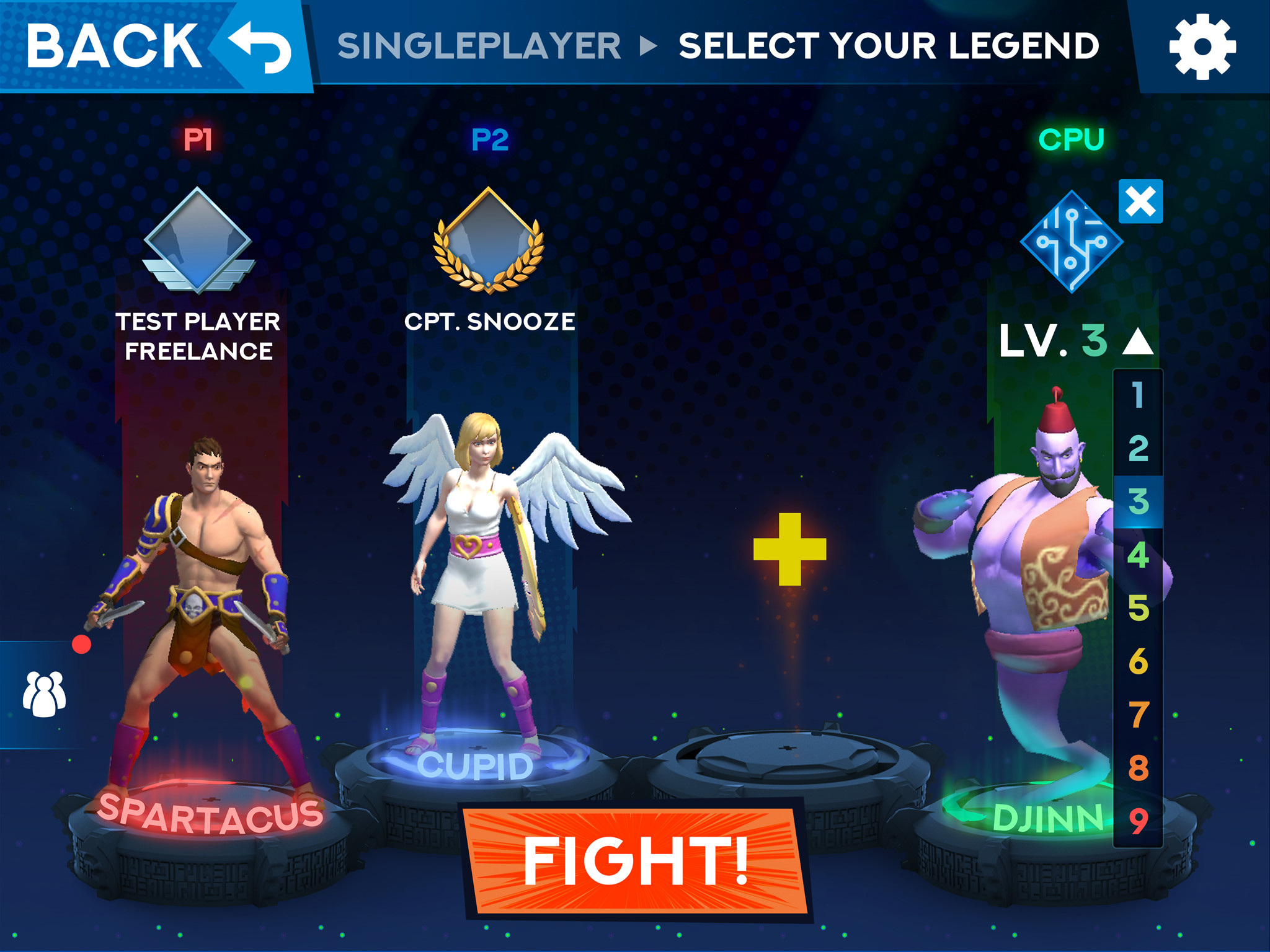 pre-battle UI