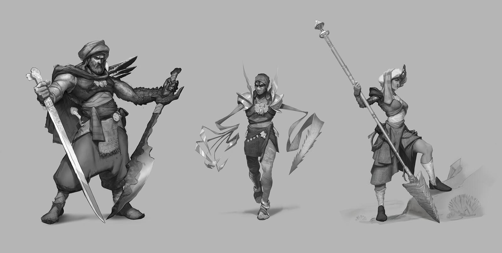 Egyptian fantasy trio