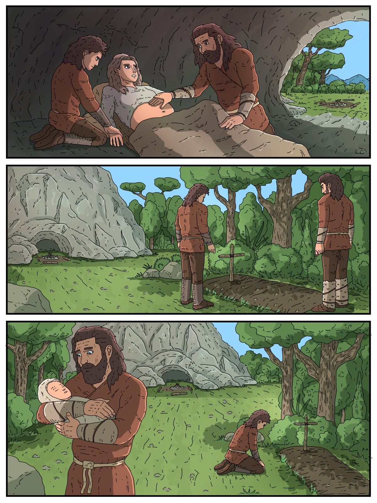 Illustration for comic book
