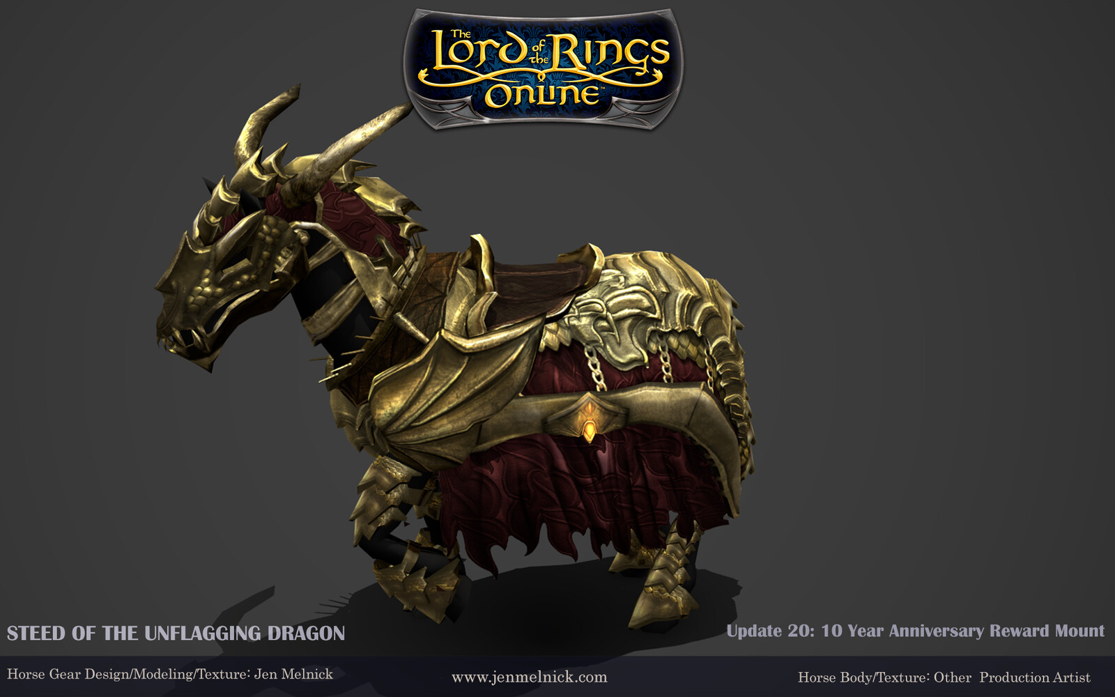Lotro 10 Year Anniversary Mount-Gold