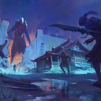 Ayan nag giant breaching the gates by artofayan 2