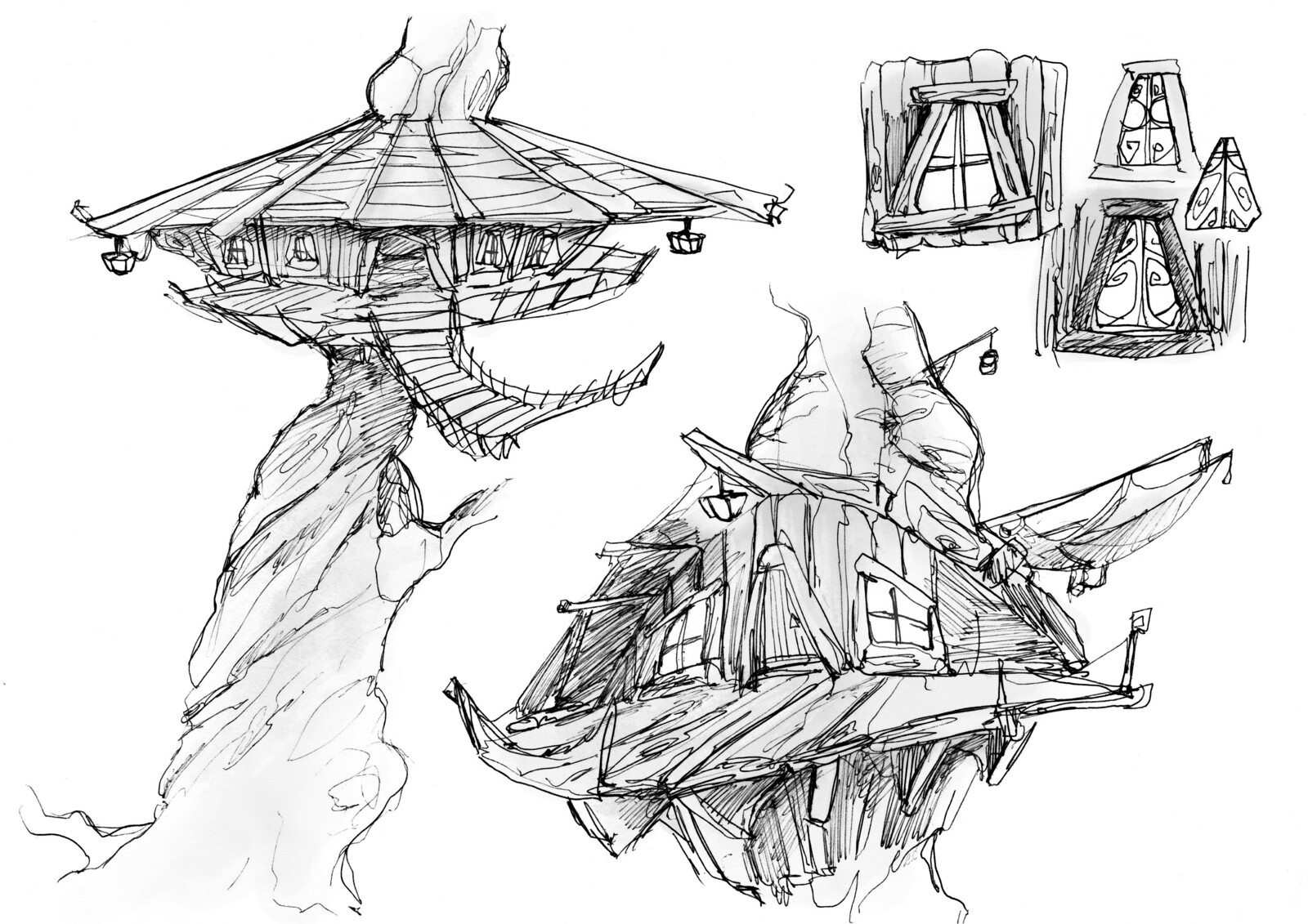 Forest Village Sketches
