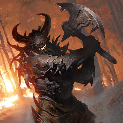 Greg rutkowski demon berserker 1200