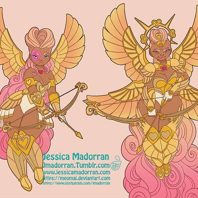 Jessica madorran patreon february 2021 character of the month warrior cupid artstation03