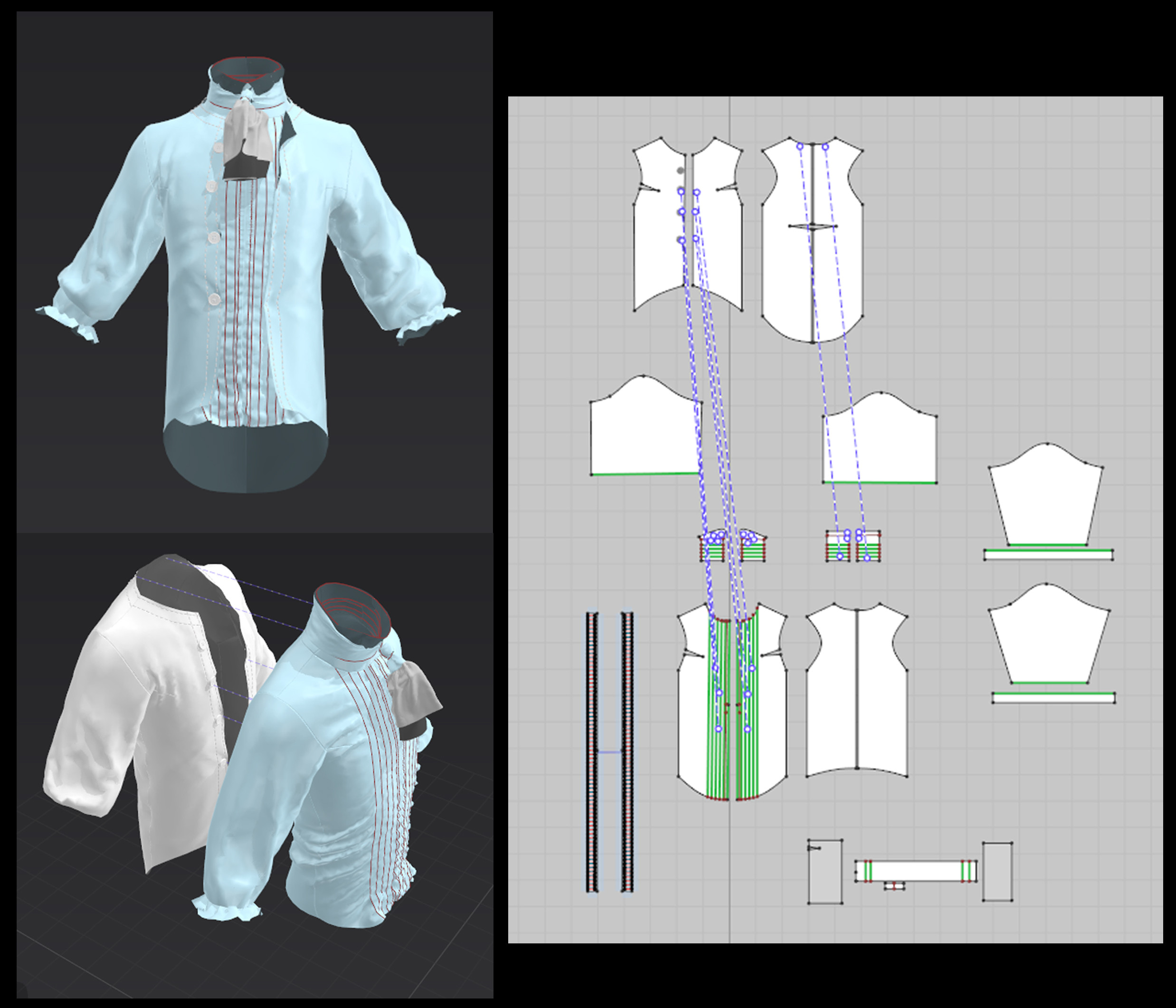 Marvelous designer process