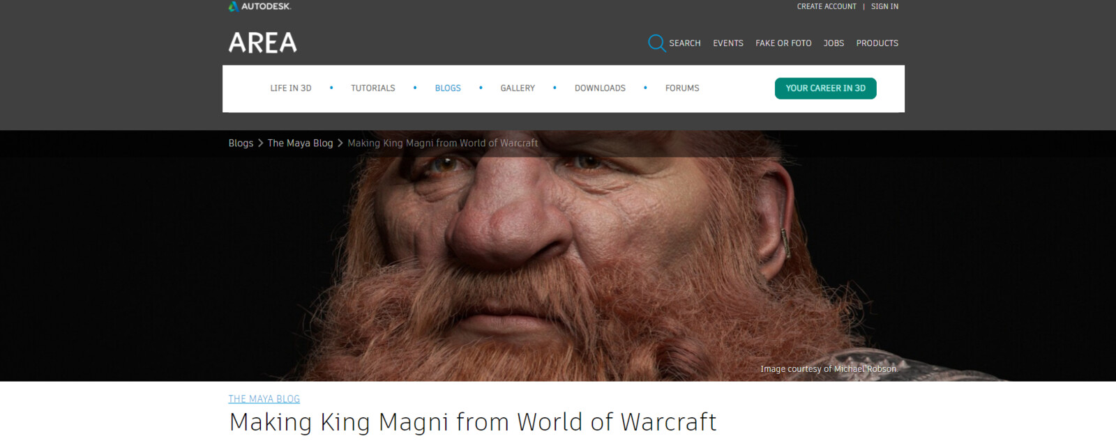 BREAKDOWN:  https://area.autodesk.com/blogs/the-maya-blog/making-king-magni-from-world-of-warcraft/