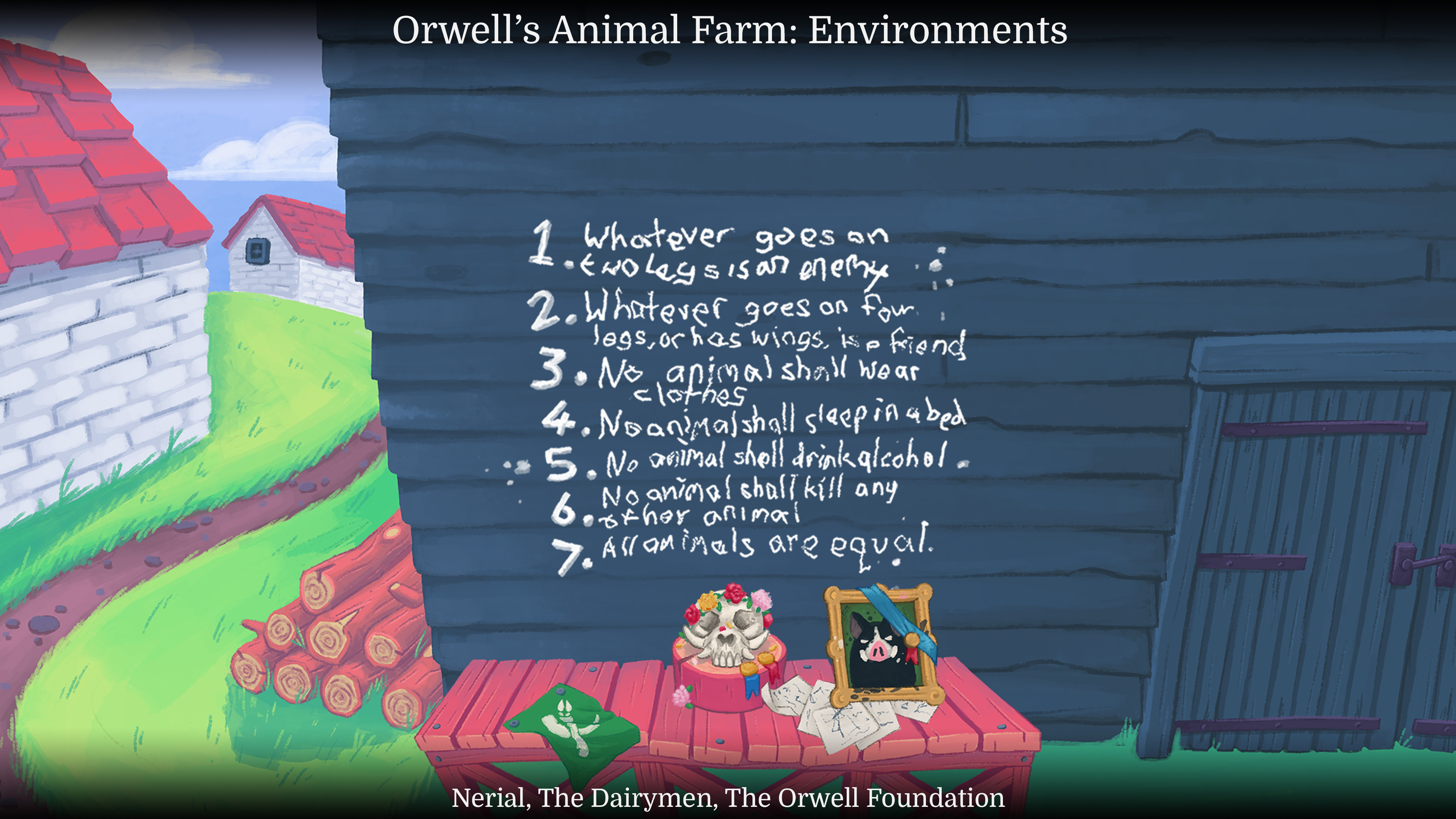The barn wall and the laws of animalism.