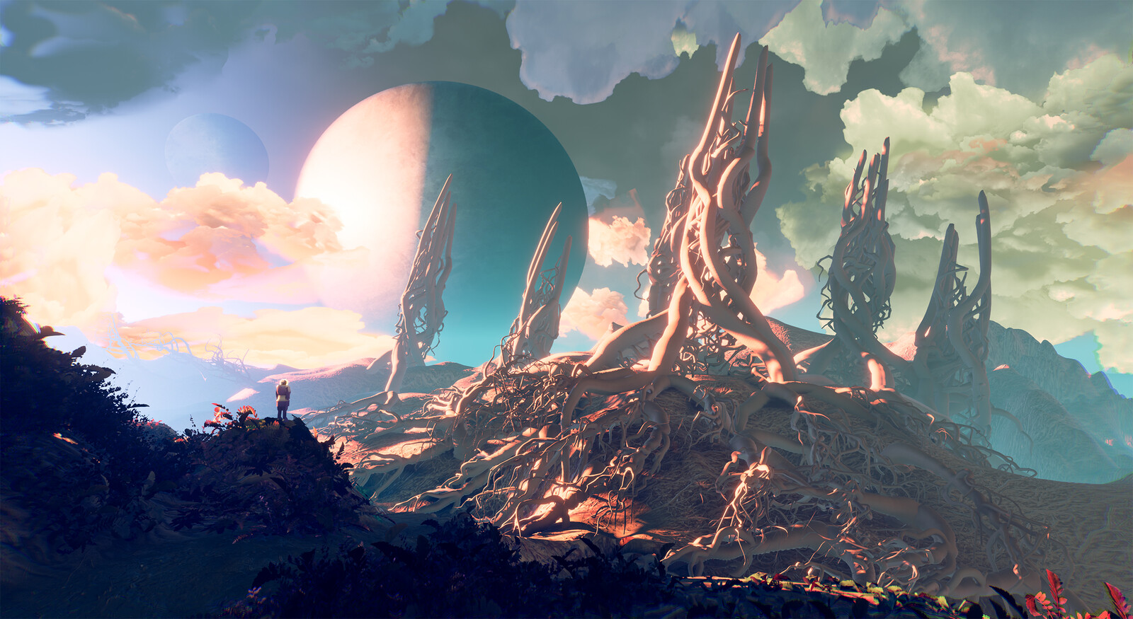 Ginseng Caves Entrance - ArtStation Challenge 'Grand Space Opera: Light Age'