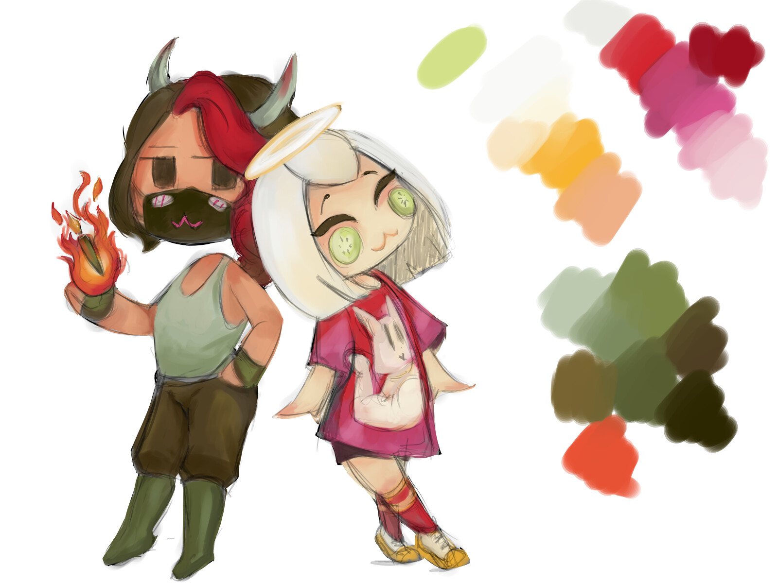 To the day I created my friend and I's avatars for our group channel where I wanted to talk about the creative writing process and game design.