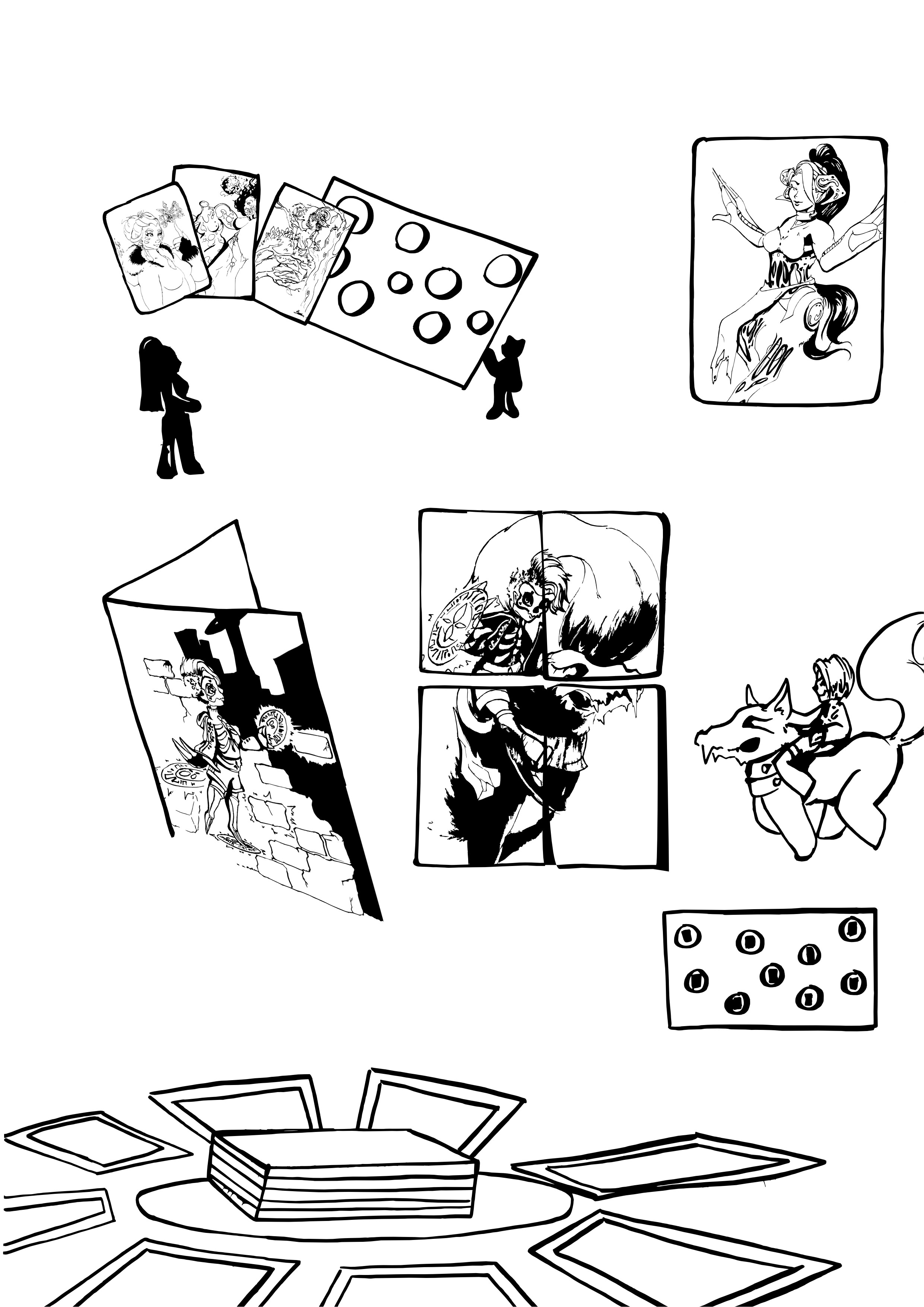 To the day I created  a comic for a manual for an interplanetary TCG I had made as my first assignment.