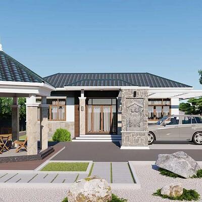 Neohouse architecture biet thu mai thai 1 tang dep 5