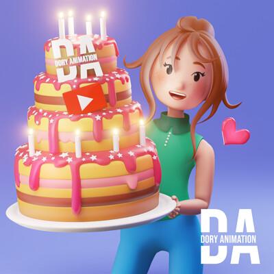 Doriana pompili torta 1000 dory quadrata cor logo
