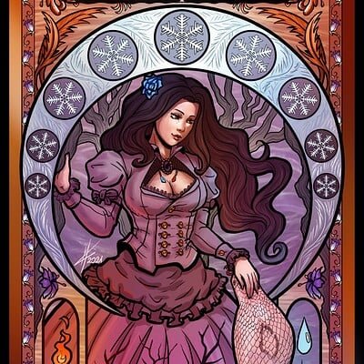 Magical kaleidoscope shai art nouveau