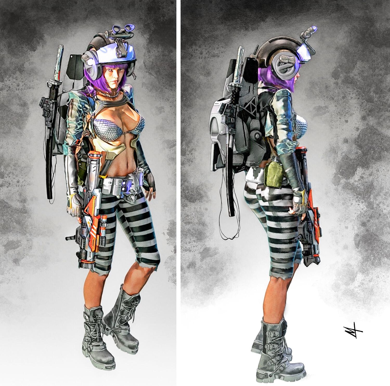 Vi0la Character Concept / Final version