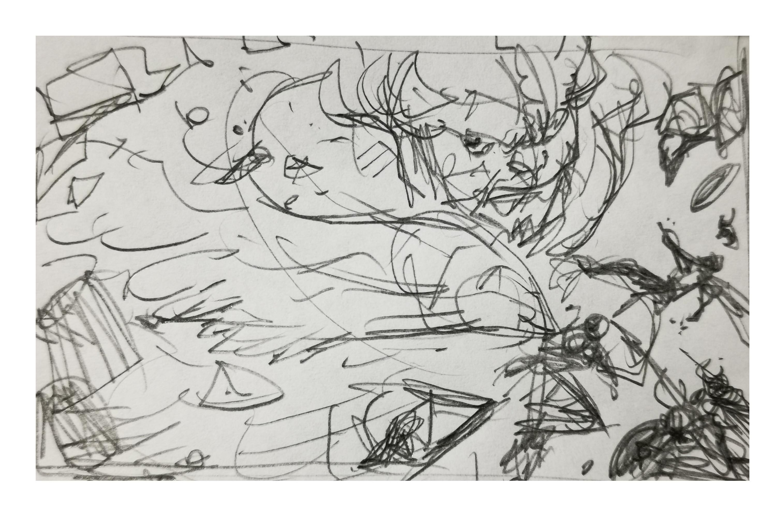 Raw sketch A