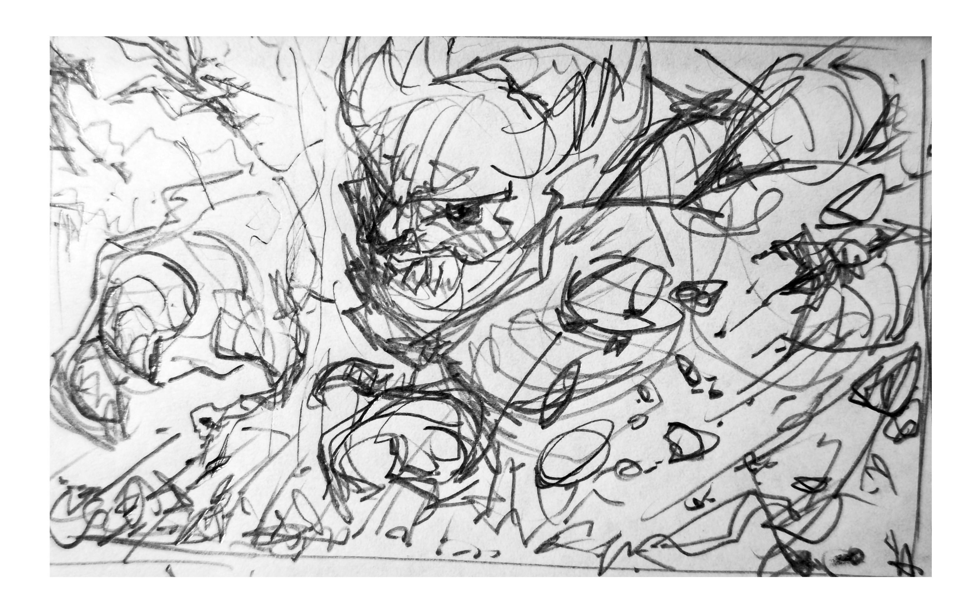 Raw sketch B