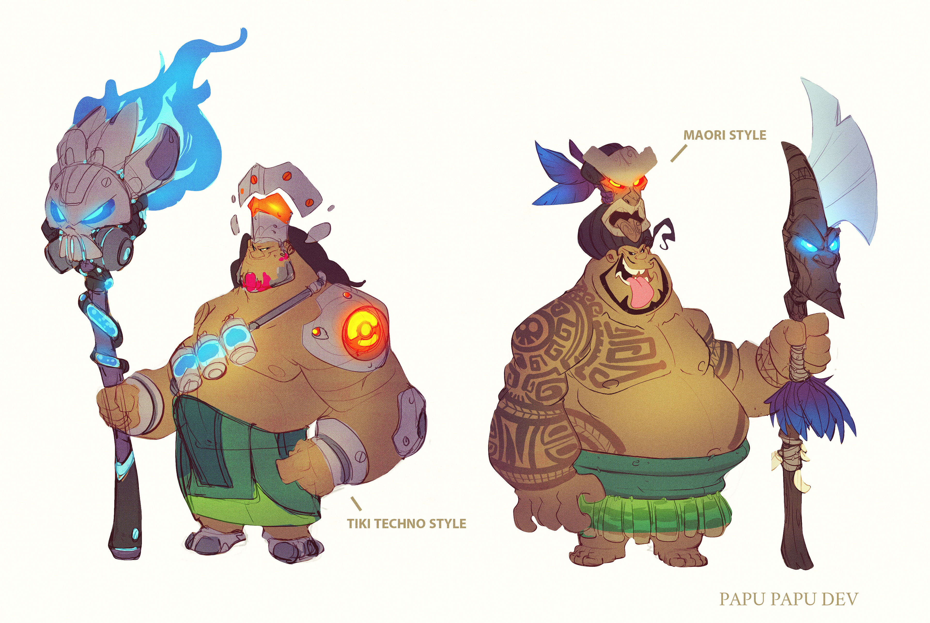 Early Crash 4 concept development: Papu Papu ideations.