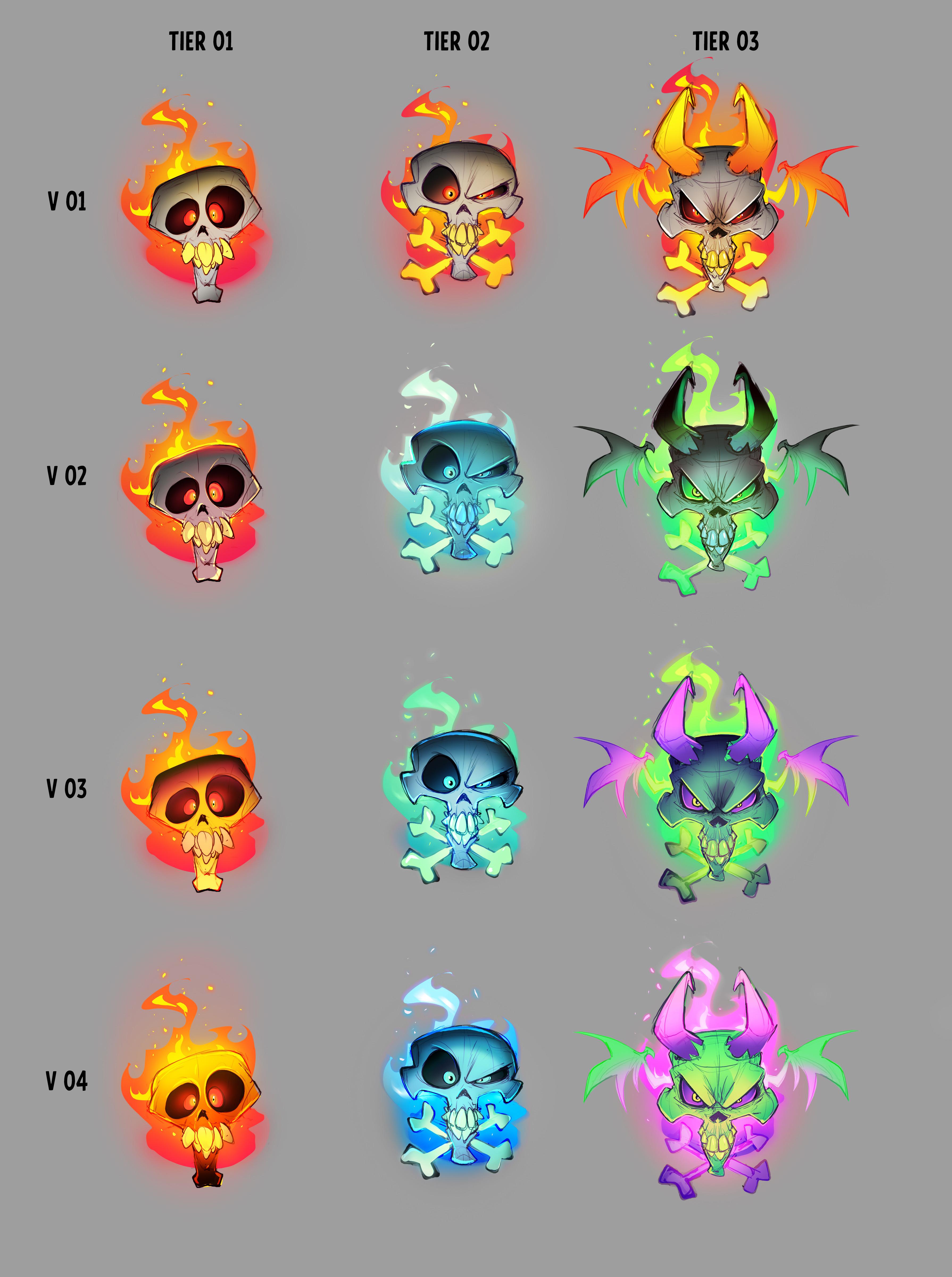 Crash 4 concept development: Icon development concepts.