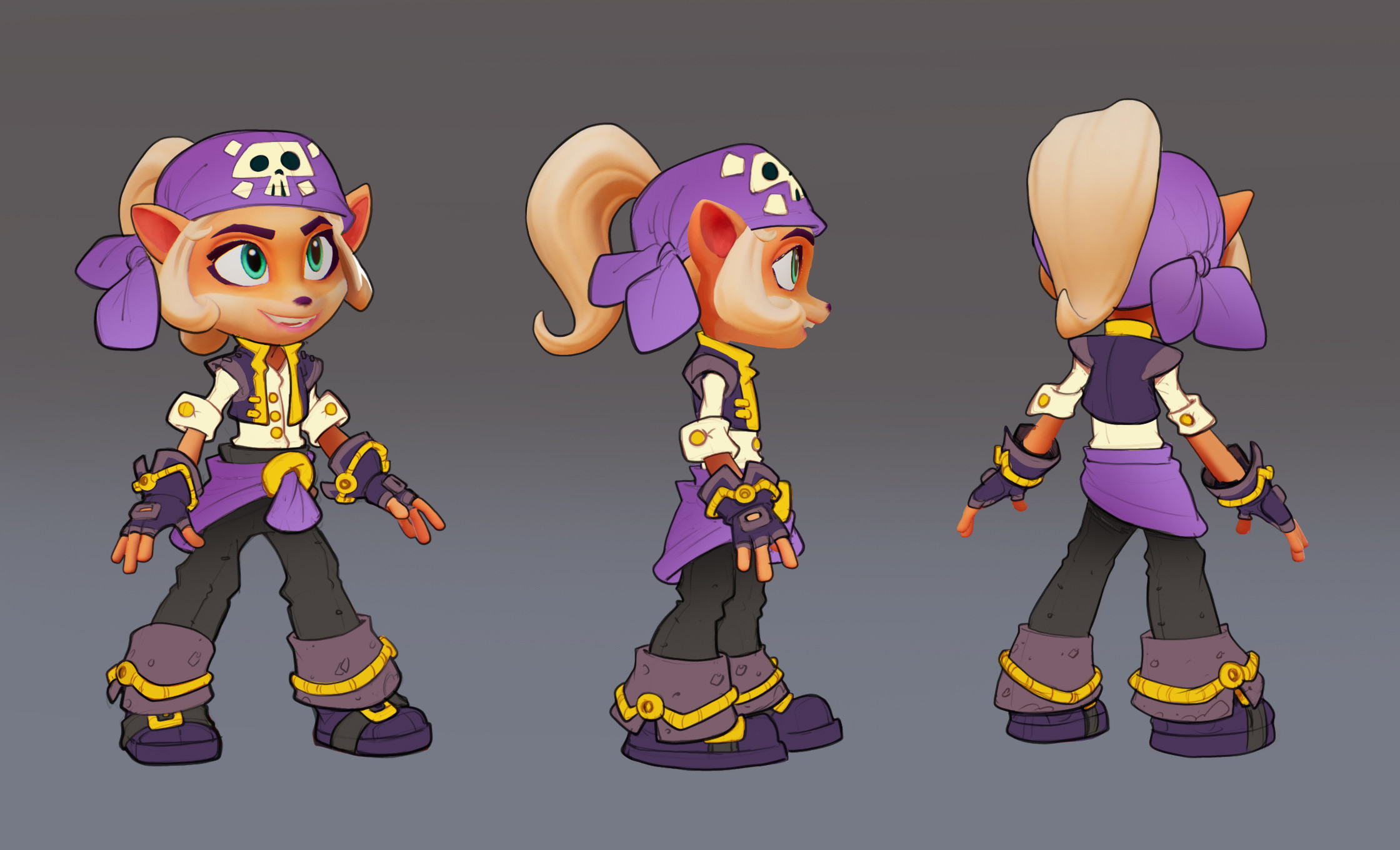 Went back with origin purple and gold colors for final design. Minimal rendering requested due to time constraints.