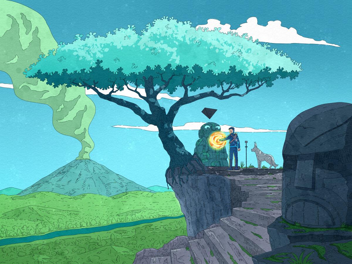 Tree of life, sci-fi storytelling illustration