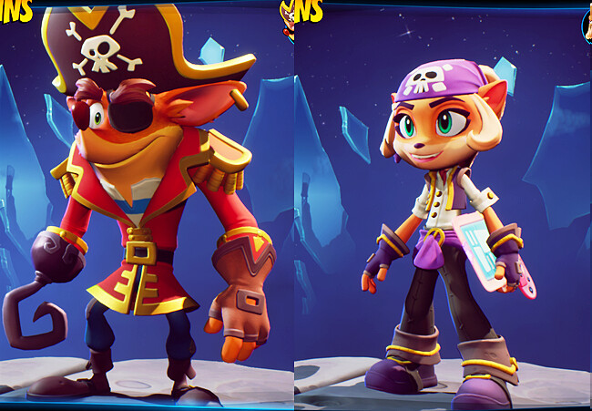 Final skins in-game.