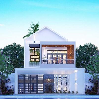 Neohouse architecture nha pho hien dai 2 tang 2