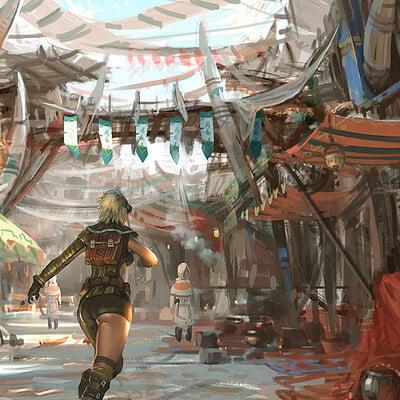 Hwanggyu kim market scene01