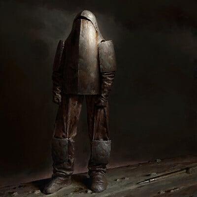 Anton solovianchyk knight on dark background