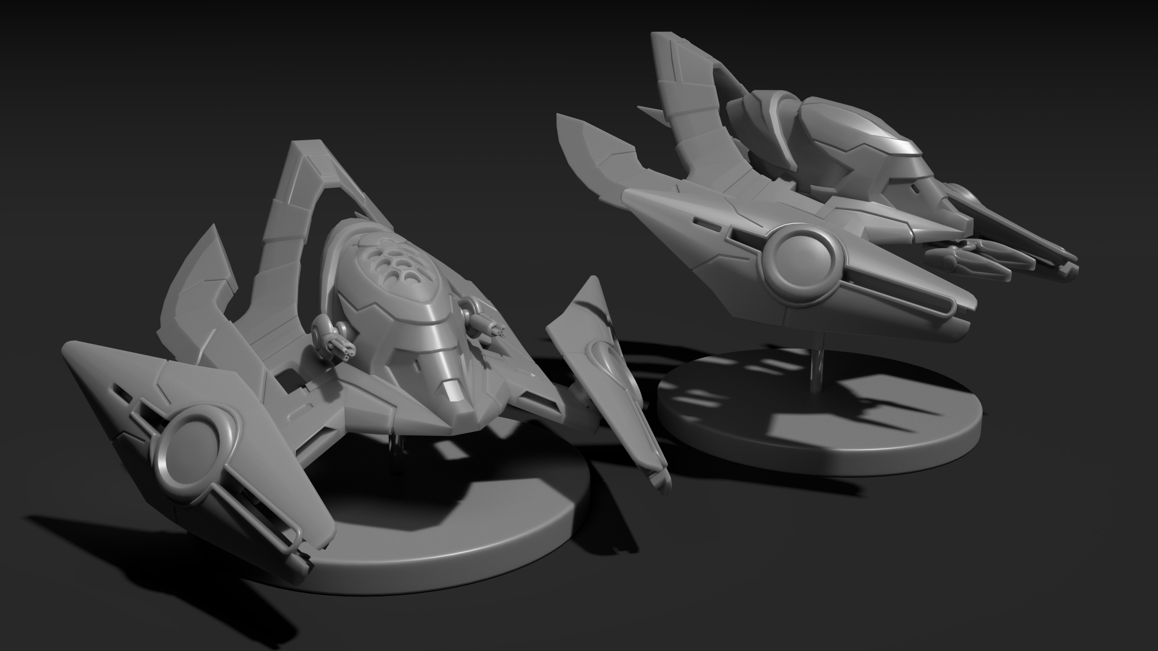 Venator Hull (Left) & Shikari Hull (Right)
