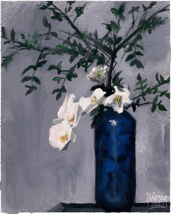 flower still-life for everyone's inner grandma