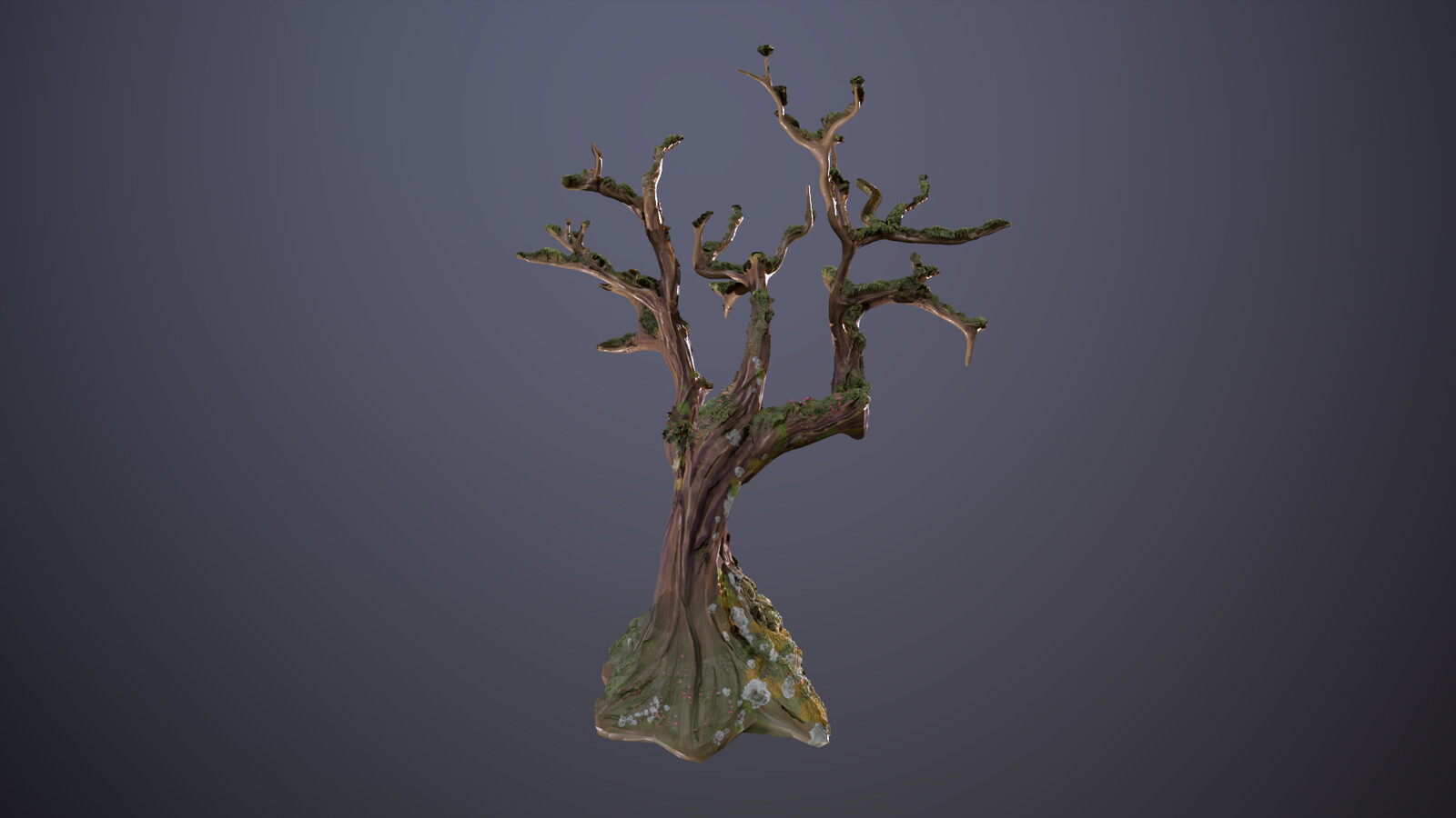 Stylized tree.  Modeled in Blender, textured in Substance Painter