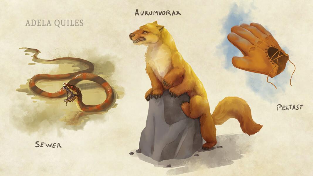 Classic D&D creatures